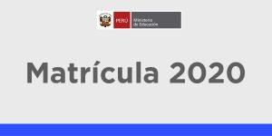 Matrícula Escolar Excepcional 2020